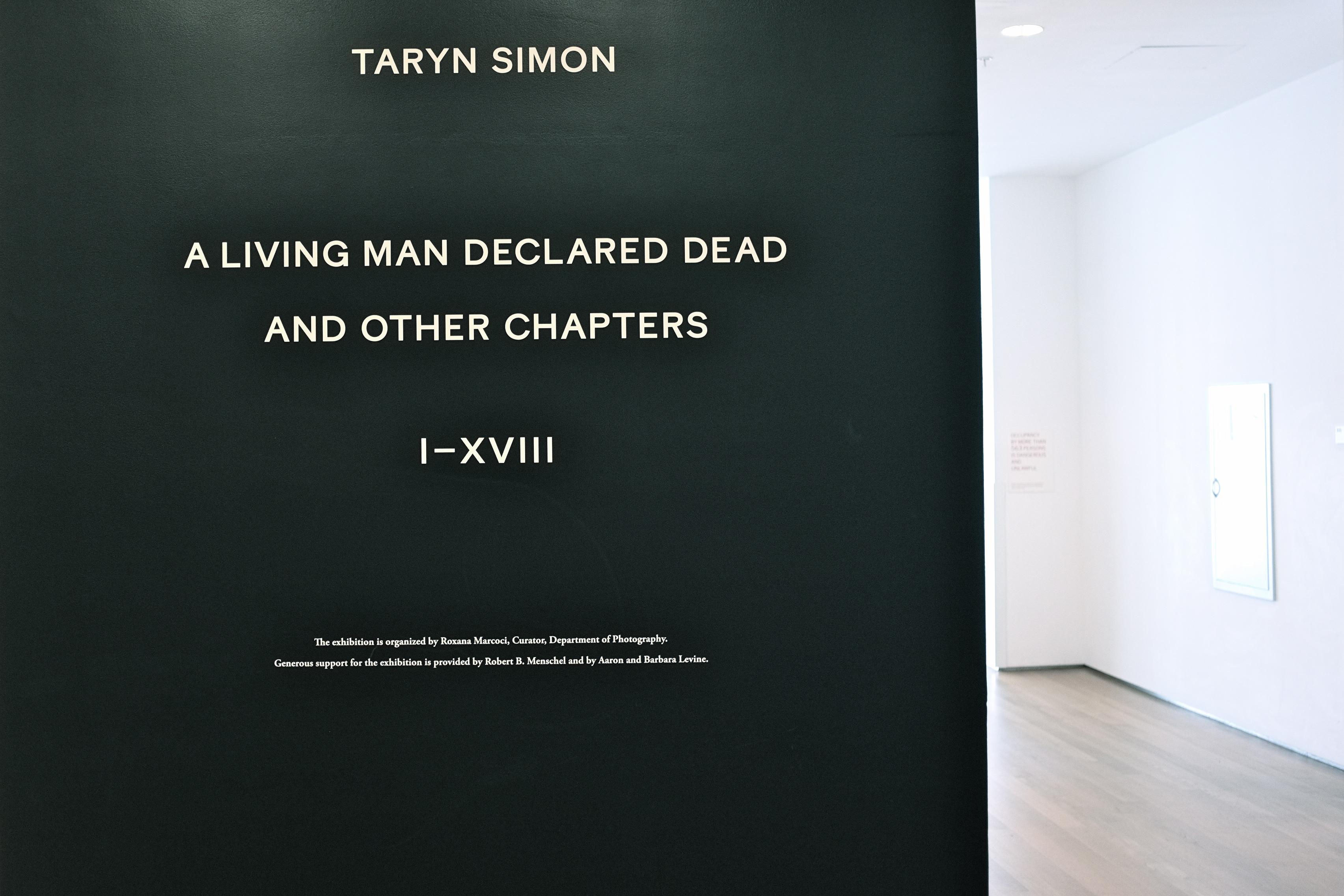 Taryn Simon Exhibit