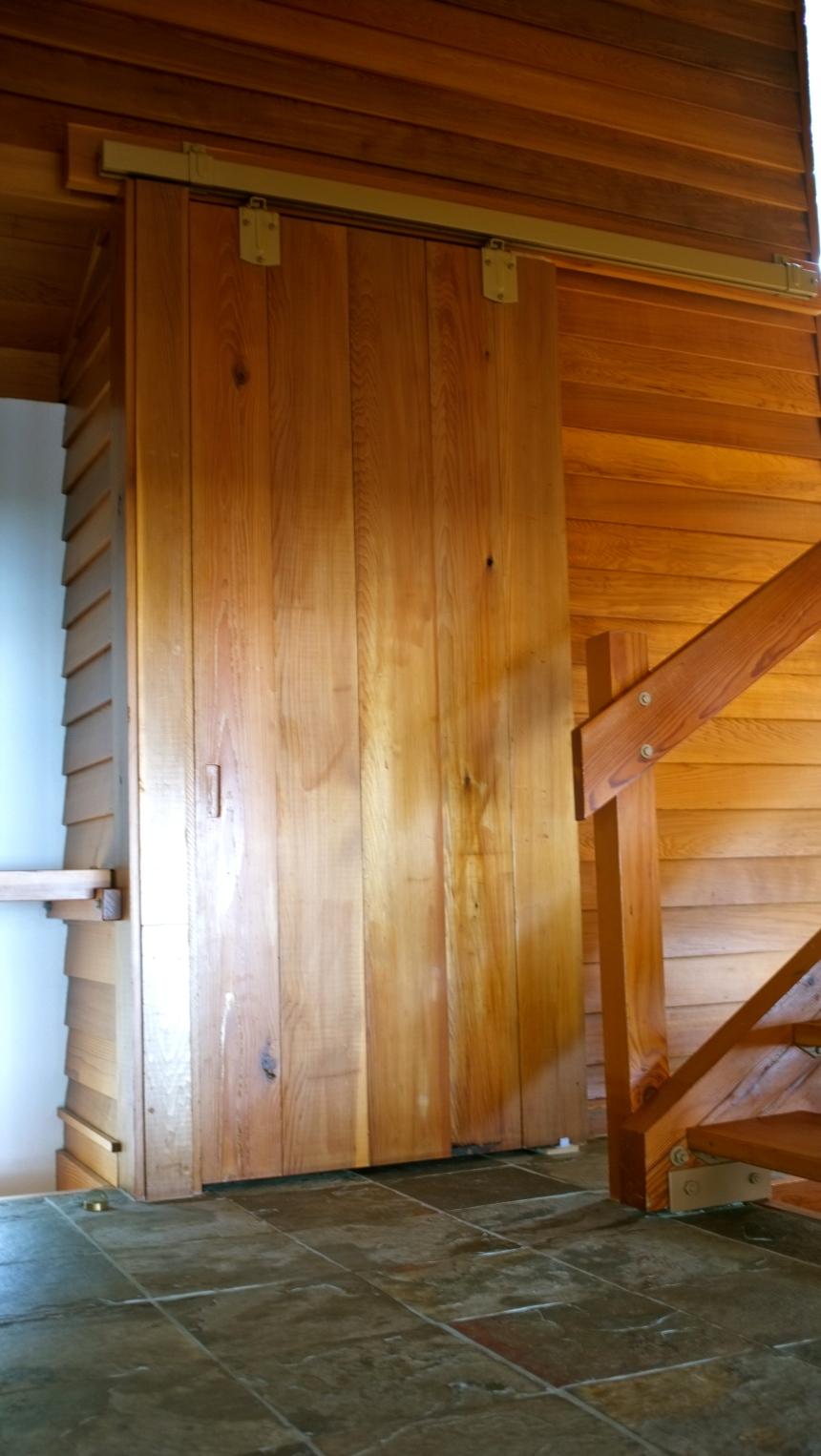 Closet barn doors