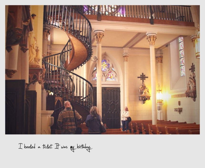 Inside the Loretto Chapel