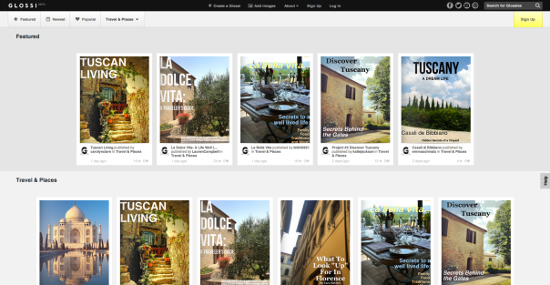 Glossi featured our Digital Magazines from Tuscany