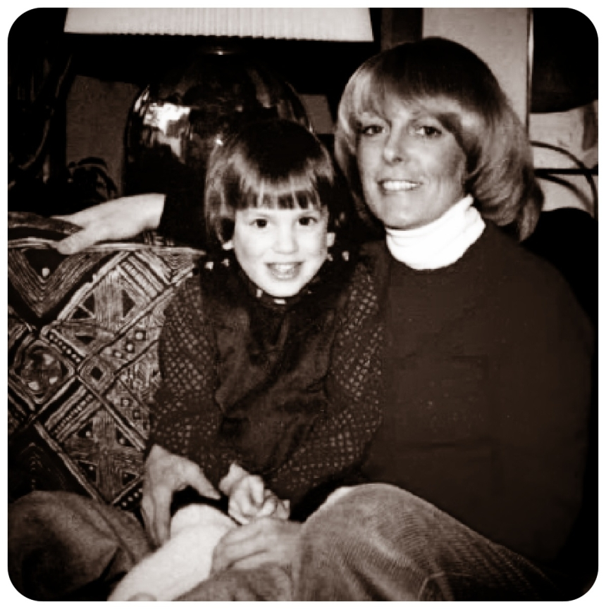 Portrait of mother and daughter circa 1978