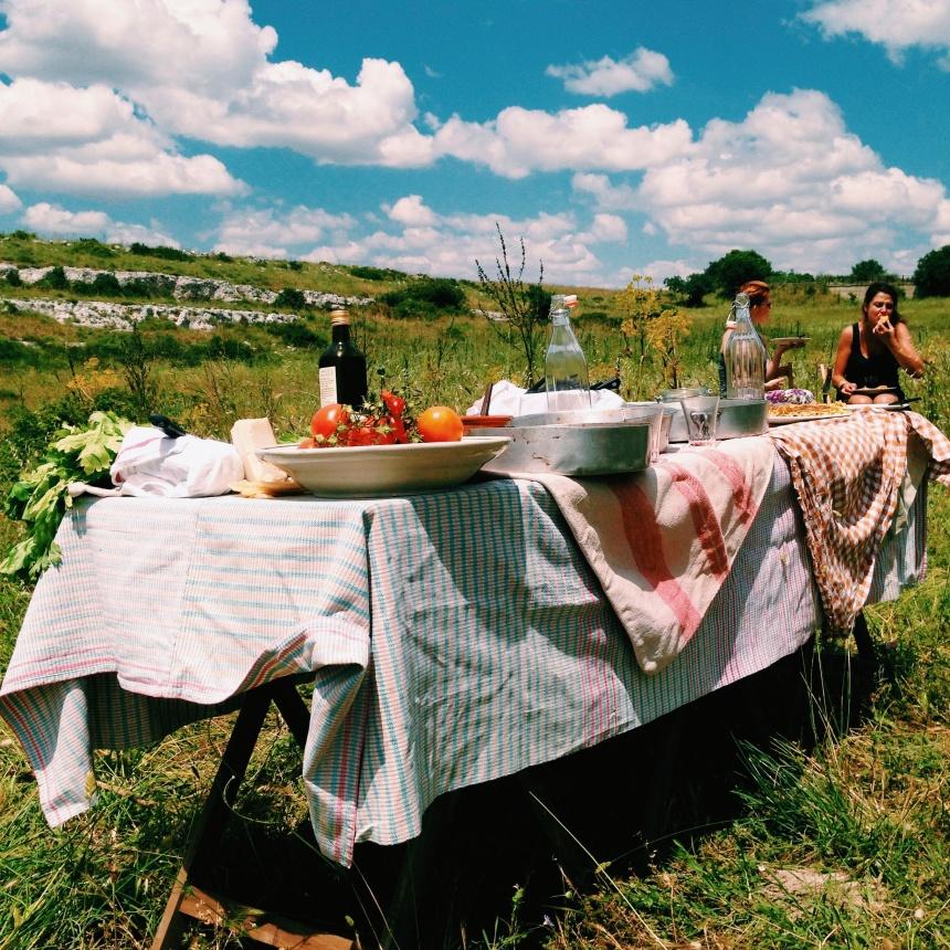 Picnic Tabel in Puglia